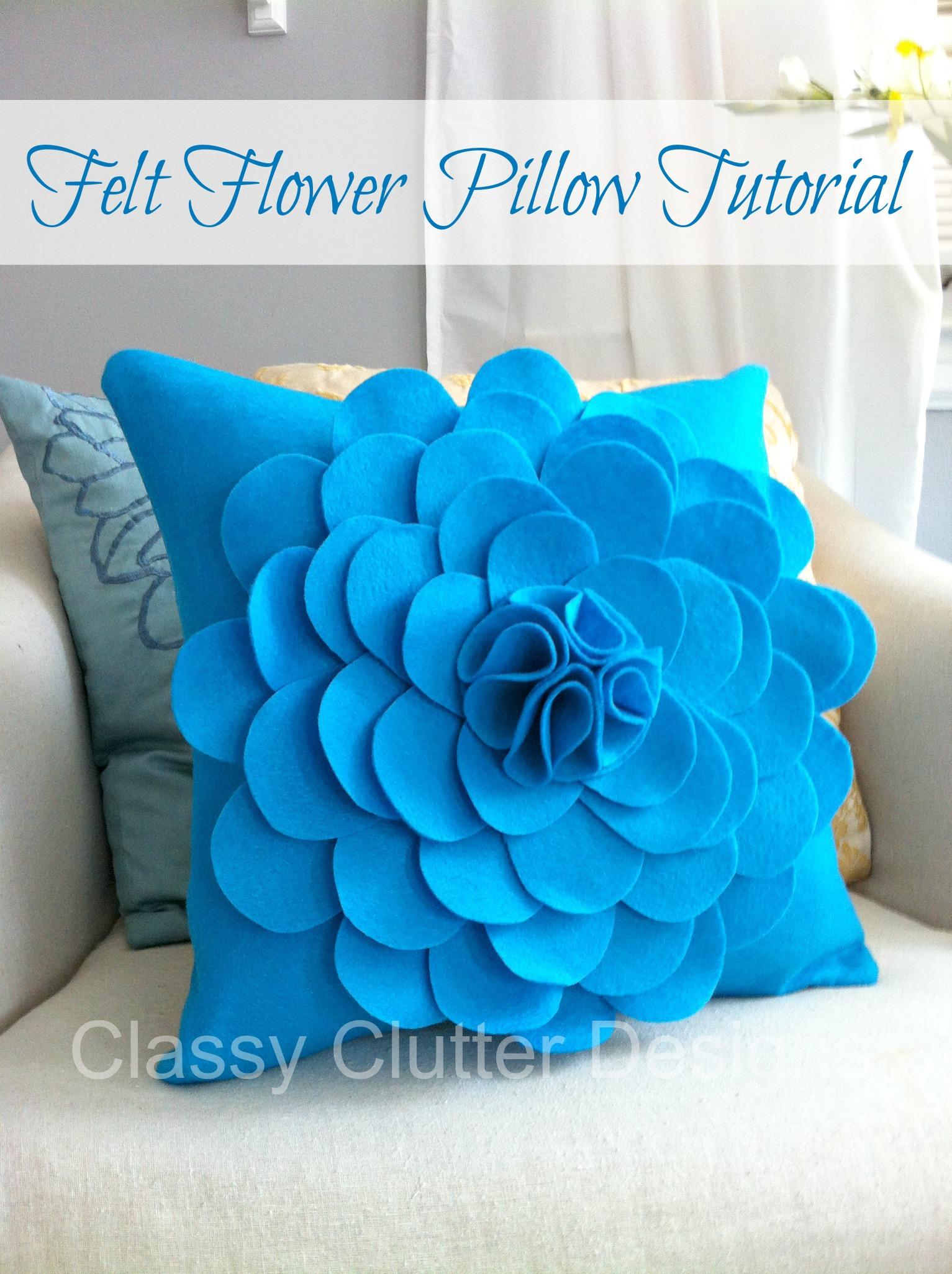 How to make a Felt Flower Pillow