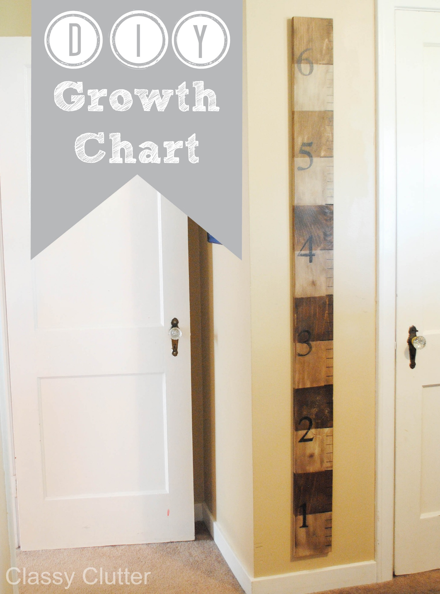 Diy wooden growth chart tutorial classy clutter diy growth chart 10g geenschuldenfo Choice Image